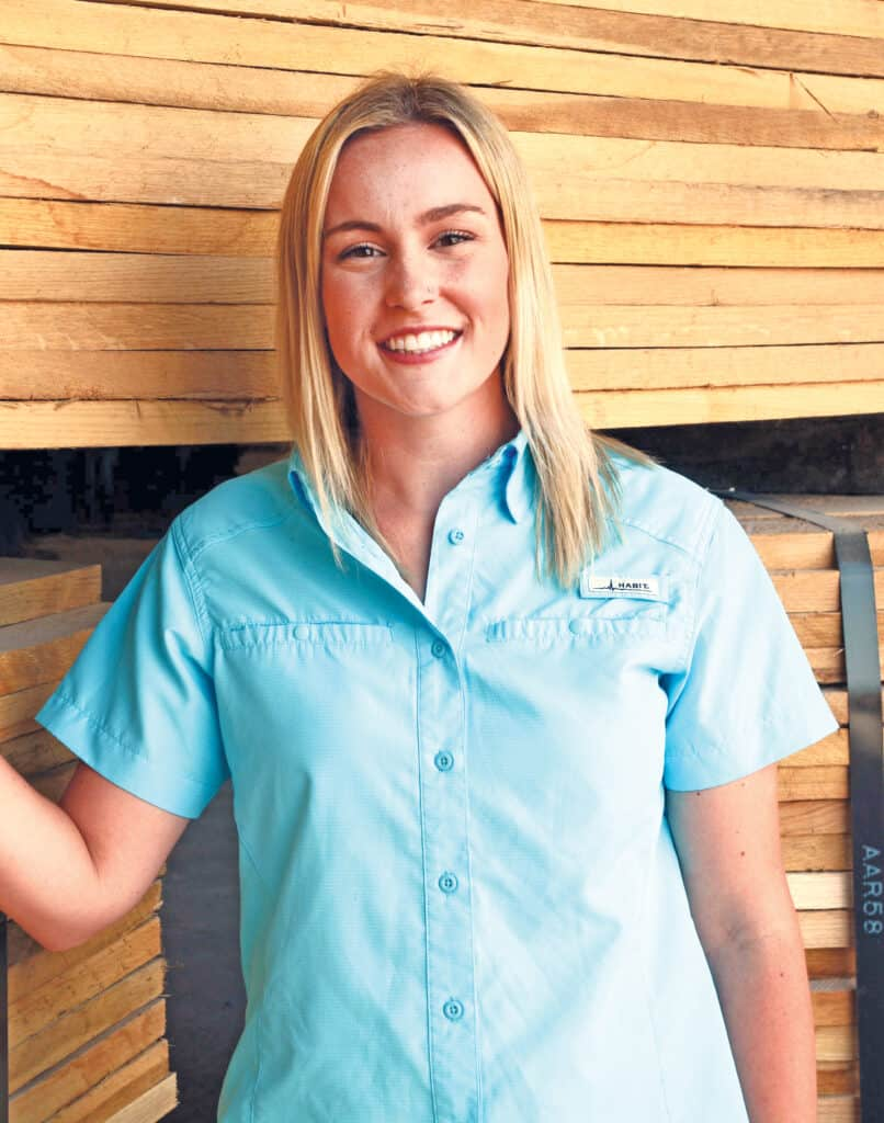 Molly Moore, operations manager and kiln operator.