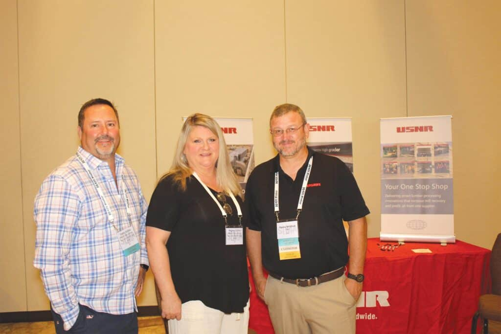 Eddie and Regina Collins, Wood Fiber Group/Simonds International/Burton Saw and Supply, Florence, SC; and Tracey Mitchell, USNR, Perry, GA