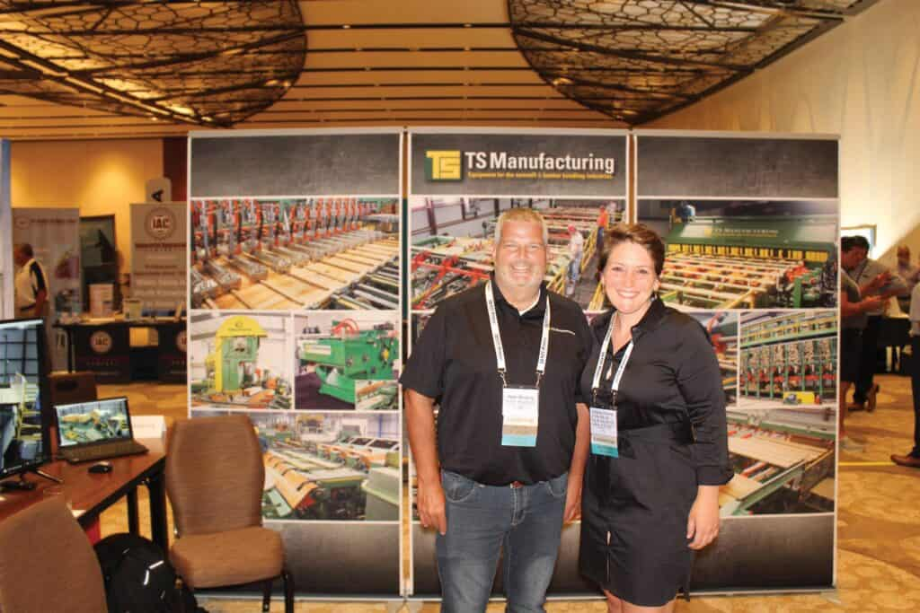 Peter McCarty, TS Manufacturing Co., Dover-Foxcroft, ME; and Lindsey DiGangi, PLMI, Philadelphia, PA