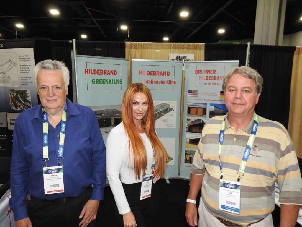 Bernie Pahlke, BEP Engineering Services Ltd., Surrey, BC; Keli Park, Brunner-Hildebrand Lumber Dry Kiln Co., Nashville, TN, and Joe Patton, The Westervelt Company, Tuscaloosa, AL