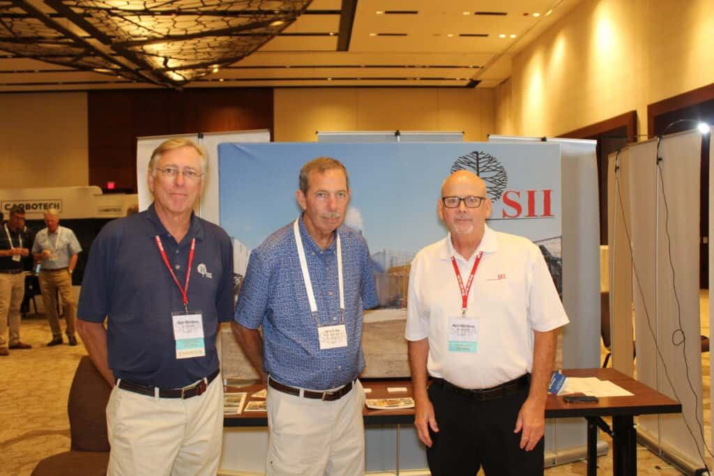 Dan Mathews, SII Dry Kilns, Lexington, NC; John Talley, Arbor Tech Forest Products Inc., Blackstone, VA: and Ken Matthews, SII Dry Kilns