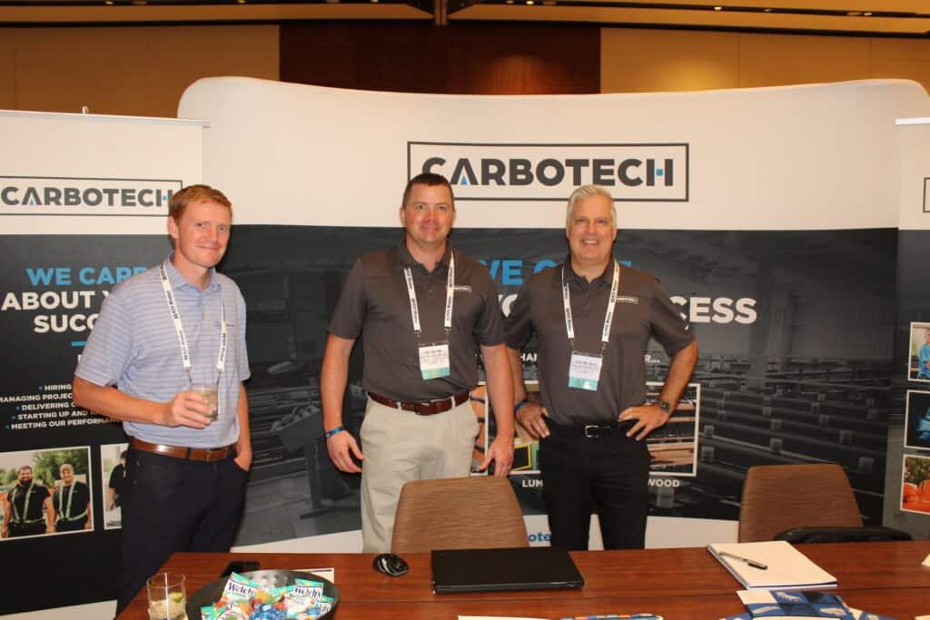 Joshua Adams, Southeastern Agency Group Inc., Greensboro, NC; Jon Comber, Carbotech International Inc., Plessisville, QC; and Eric Michaud, Carbotech International Inc., Sarasota, FL.
