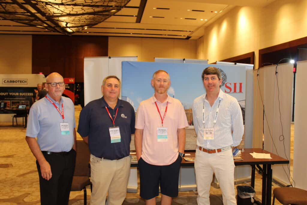 Ken Matthews, Brian Turlington and Ben Mathews, SII Dry Kilns, Lexington, NC; and Patrick Harrigan, Harrigan Lumber Co. Inc., Monroeville, AL