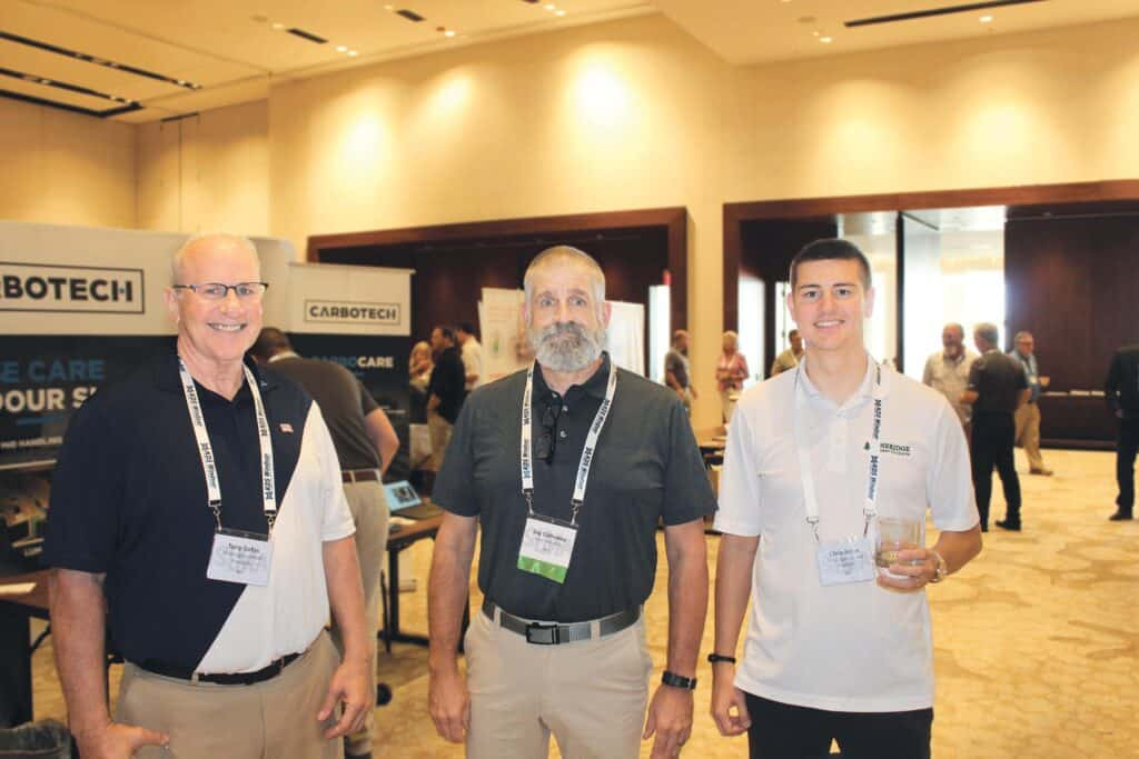 Tony Sofos, Pineridge Lumber Products, Astoria, NY; Jay Galloway, Hood Industries Inc., Hattiesburg, MS; and Chris Sofos, Pineridge Lumber Products