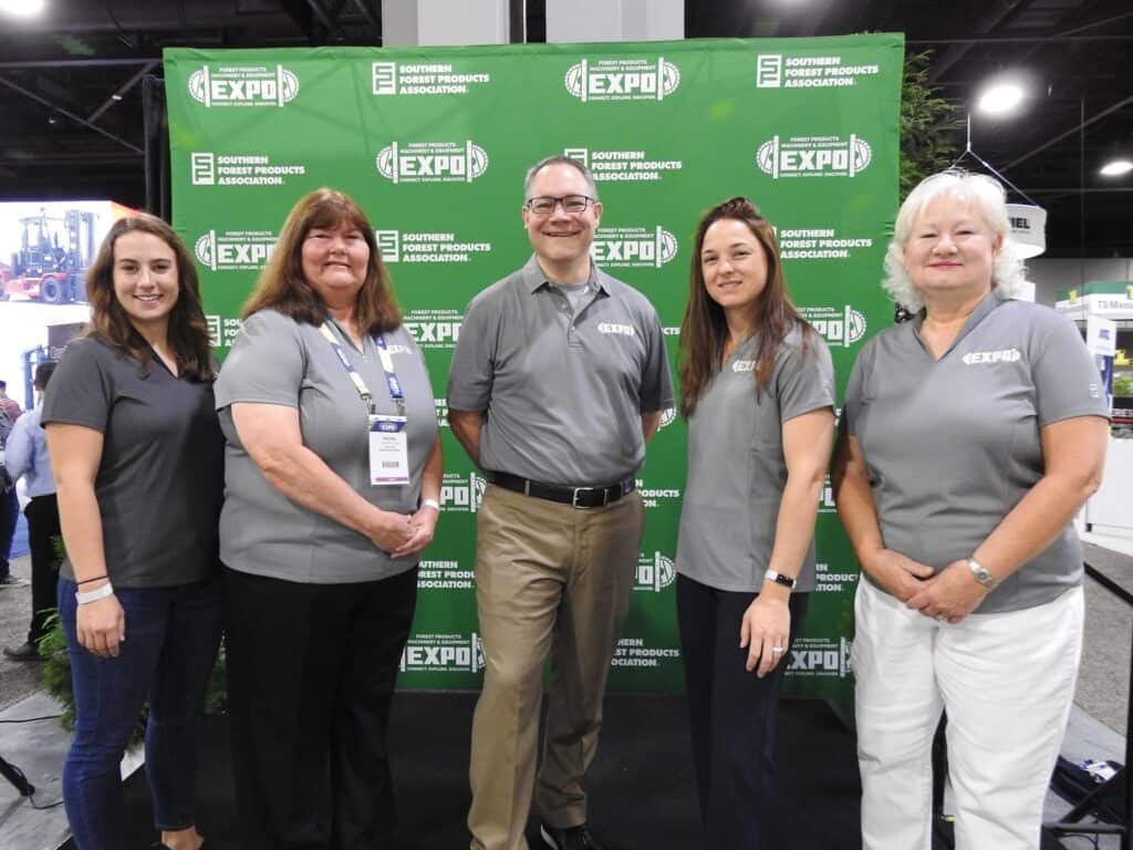 Julia Milrod, Rachel Elton, Eric Gee, Alaina Hanson and Linda Patch, Southern Forest Products Association,  Metairie, LA