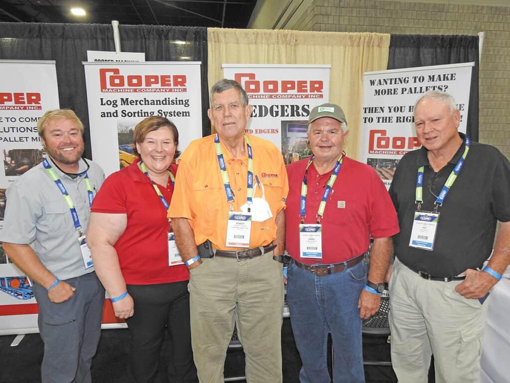 Lee Hubbard, Bennett Lumber Company LLC, Piedmont, AL; Frances Cooper and Robert Cooper, Cooper Machine Company Inc., Wadley, GA; and James Bennett and Pat Biddy, Bennett Lumber Company LLC