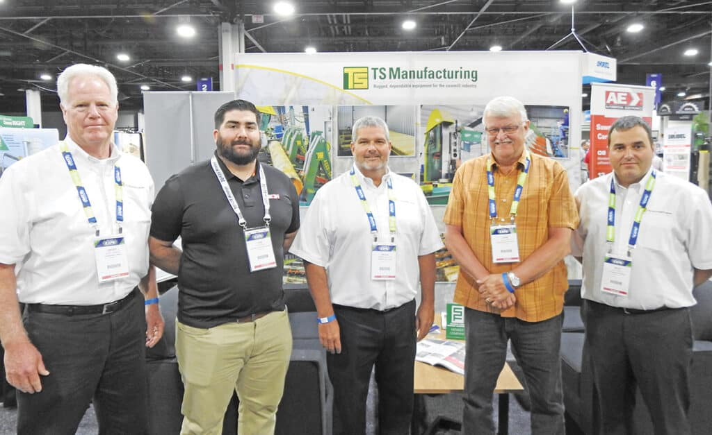 Geoff Gannon, TS Manufacturing Co., Plymouth, NH; Joe Korac, Automation & Electronics USA, Arden, NC; Peter McCarty, TS Manufacturing Co., Dover-Foxcroft, ME; John Rees, Ram Forest Products Inc., Shinglehouse, PA; and Riley Smith, TS Manufacturing Co., Lindsay, ON