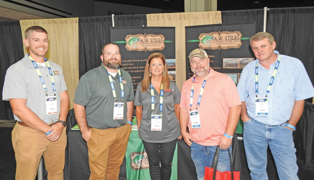 Lee Stiles and Casey Miller, A.W. Stiles Contractors Inc., McMinnville, TN; Kellie Reed, Associated Steel Corporation, Cleveland, OH; and Chris Taylor and Jessie Moore, Charles Ingram Lumber Co. Inc., Effingham, SC