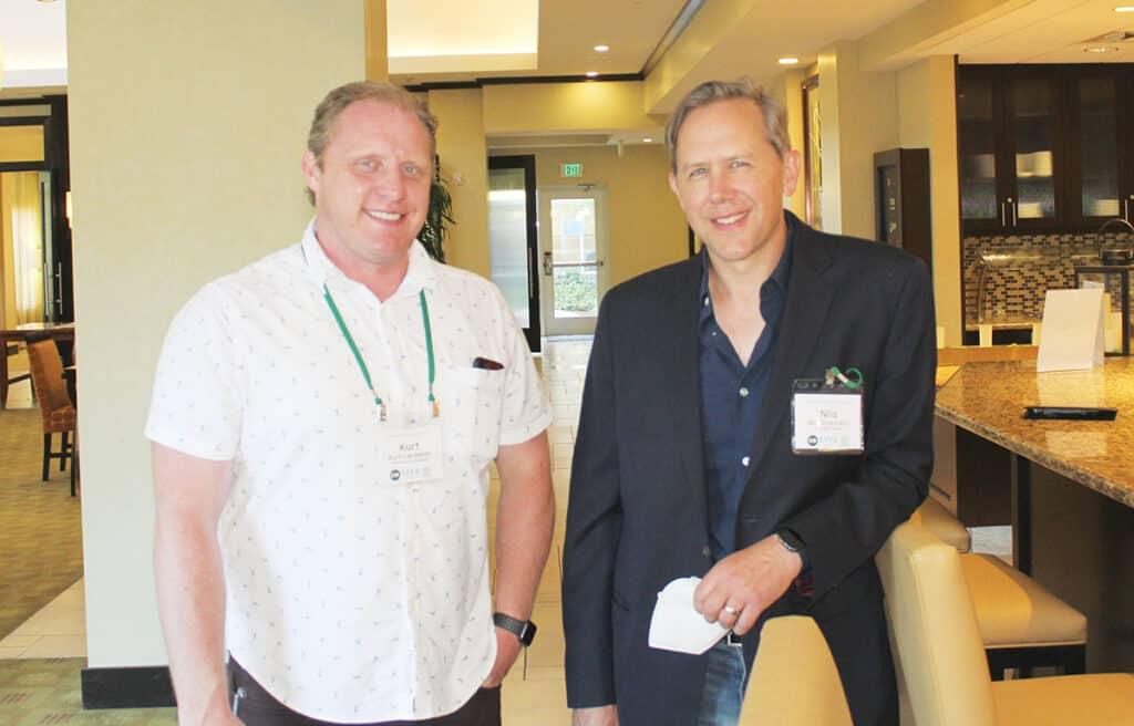Kurt Landwehr, Hardwood Industries Inc., Sherwood, OR; and Nils Dickmann, Abenaki Timber Corp., Seattle, WA