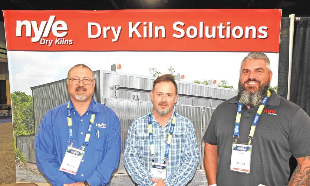 Henco Viljoen, Nyle Systems LLC, Brewer, ME; Jason Johnson, Winston Hardwood Inc., Double Springs, AL; and Jeremy Pitts, Nyle Systems LLC, Brewer, ME