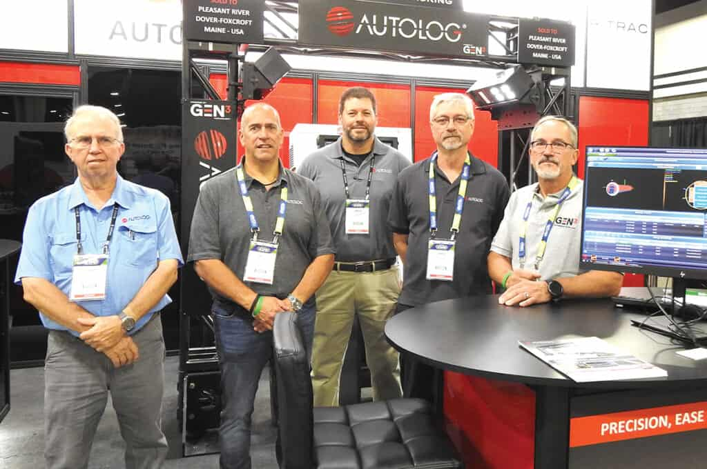 Gale Miller, Autolog Sawmill Automation, Tuscaloosa, AL; Gilles Gauvin, Autolog Sawmill Automation, Blainville, QC; Bruce Kicklighter, Autolog Sawmill Automation, Evans, GA; and Mario Godbout and Sylvain Magnan, Autolog Sawmill Automation, Blainville, QC