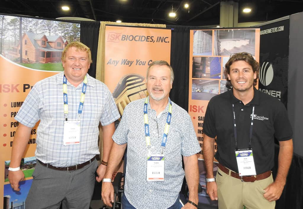 David Summerfield, ISK Biocides Inc., Augusta, GA; Terry Miller, National Hardwood Magazine, Memphis, TN; and Bob Bell, Lucidyne, A Division of Microtec, Corvallis, OR