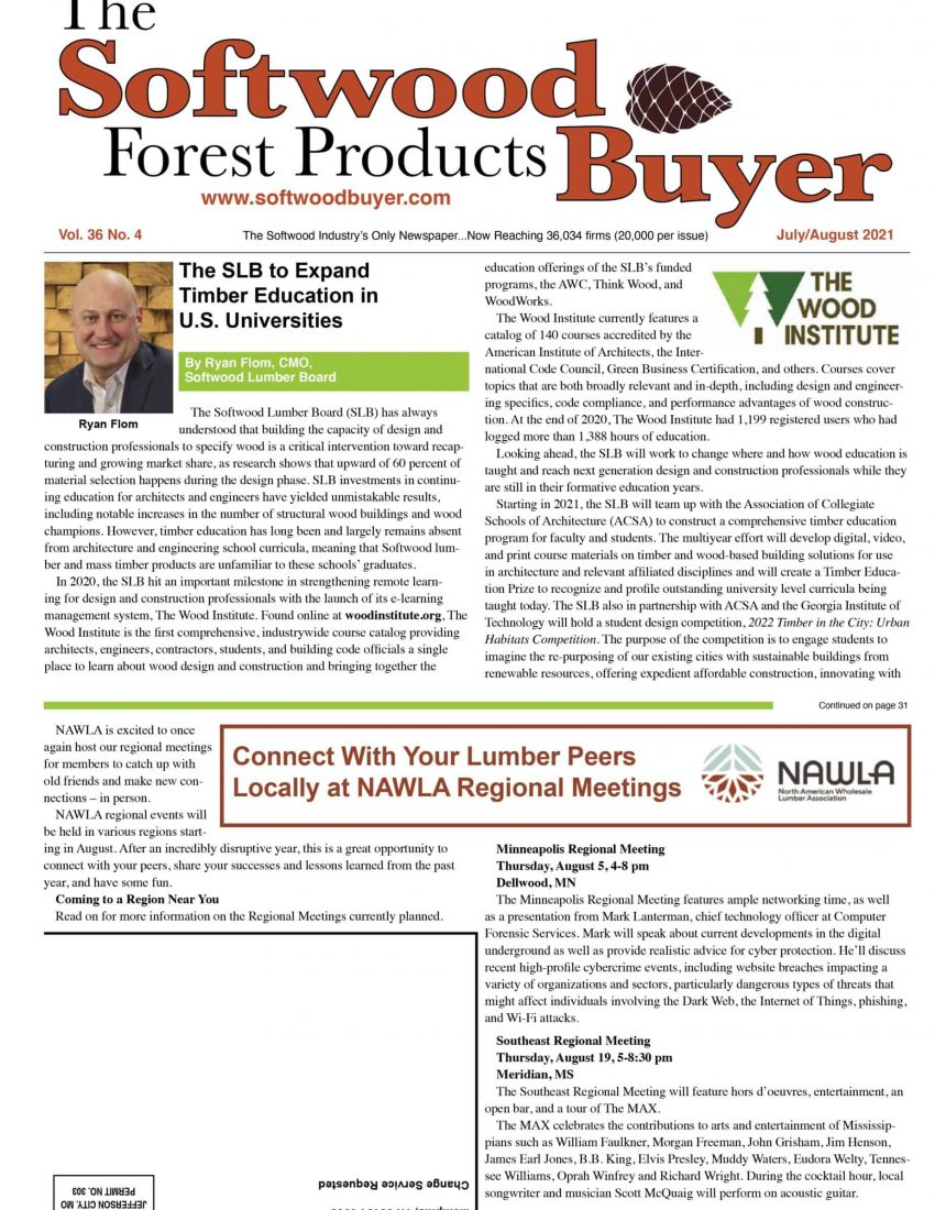 cover of The Softwood Forest Products Buyer